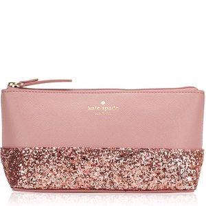 Kate Spade glitter Cosmetic bag